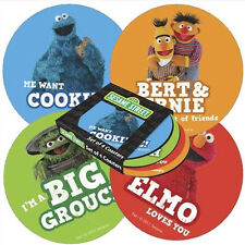 SESAME STREET *SET OF 4 ROUND COASTERS WITH SLEEVE-VARIOUS CHARACTERS* CST4SS01