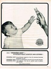 PUBLICITE  1968    PREMIERE DENT  baume gingival bébé