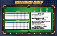 POOL BILLIARDS TABLE GOLF GAME!  JUST ADD BALLS & PLAY!  LAMINATED 11 x 17 +PEN