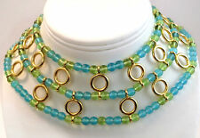 Vintage Jewelry GIVENCHY Haute Couture Necklace Gripoix Glass Bib Necklace