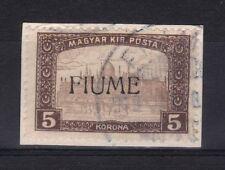 1918 FIUME RIJEKA MIETITORI E VEDUTE 5 Korona n° 20/I-II § SU FRAMMENTO € 500,00