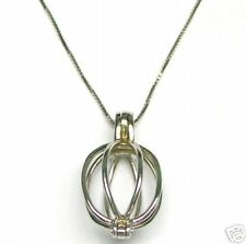 1+ Carat Natural Rough Diamonds 14K Gold Necklace Cage