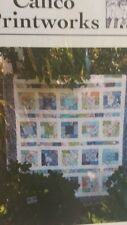 "NIP CALICO PRINTWORKS ""LAYERED UP"" QUILT PATTERN / ONE LAYER CAKE 68"" X 84"""