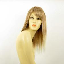 Perruque femme mi-longue blond clair cuivré méché blond clair RAPHAELLA 27t613