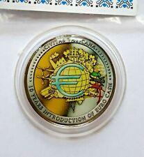 2 euro 2012 vaticano conmemorativa 10 años euro efectivo, esmaltes-color injertados