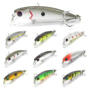 5PCS Fishing Fish Lure Floating Pencil Minnow artificial baits hook 6cm/4.5g