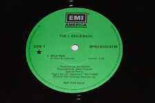 """THE J.GEILS BAND Wild Man/Could Hurt You/Jus' Can't Stop Me 12"""" Single LP Promo"""
