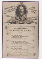 King George V 1936 Memoriam Postcard British Royalty 712b