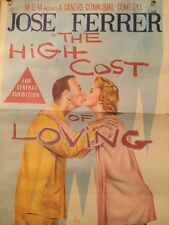 1959 Movie Bill Poster The High Cost Of Loving Vintage Collectable Memorabilia