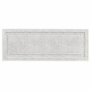 mDesign Soft Microfiber Polyester Rug, Non-Slip Spa Mat/Runner - Platinum Gray