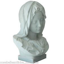 Scultura Madonna La Pietà del Michelangelo Marmo Bianco Carrara Marble Sculpture