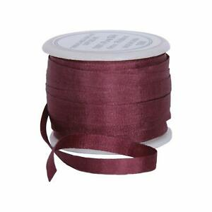Threadart 100% Pure Silk Ribbon - 4mm Cocoa - No. 563-3 Sizes - 50 Colors