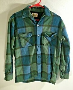 VINTAGE 1960's Penneys Towncraft Plus Wool Flannel Shirt - Wool - Made in Japan