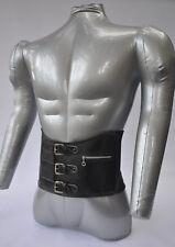 Vintage Motocross Kidney Belt, NOS, Leather & Elastic with Buckles, Zipper