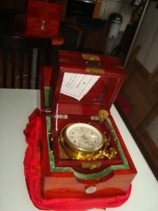 Russian marine chronometer 2 box KIROVA #21484