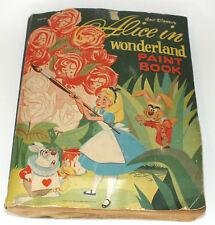 Vintage Alice In Wonderland Coloring Book 1951 Walt Disney Paper Piecing Artwork