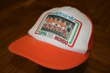 True Vintage 80's Coppa Del Mondo Adidas Hat Baseball Cap Retro Rare