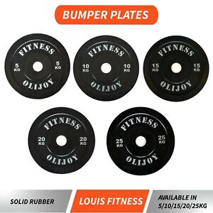 Rubber Coated Olympic Bumper Plates 5/10/15/20/25 Kg Gym Fitness Weight Training