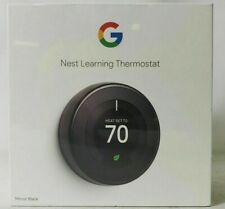 Google Nest 3rd Gen Learning Thermostat Mirror Black T3018US