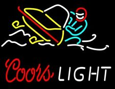 """New Coors Light Snowmobile Beer Bar Pub Lamp Neon Sign 24""""x20"""""""