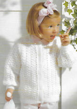 Toddler cardigan knitting pattern 12mths -3 years DK 175