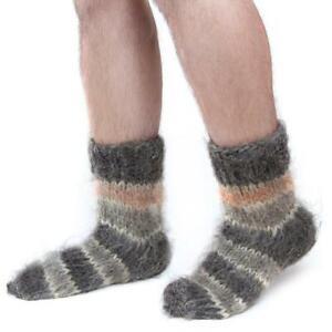 100% Wool Socks Mens Sheepskin Sheep Soft Fuzzy Warming Knitted Handmade Winter