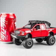 Red 1:32 Ford Raptor F150 Pickup SUV Monster Diecast Car Sound & Light Sliding