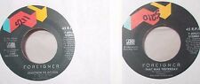"FOREIGNER - REACTION TO ACTION / THAT WAS YESTERDAY - 2 X US 7"" VINYL"