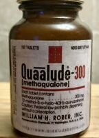"Vintage Medicine Hand Crafted Bottle, Quaalude-300 , Rorer 4"" EMPTY"