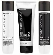 Matrix Total Results The Re-Bond  TRIO Shampoo - Conditioner - Pre-Conditioner.