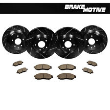 F+R Black Drilled Slotted Brake Rotors & Ceramic Pads Kit Fits Infiniti Nissan
