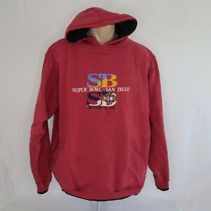 VTG 90s 1998 Logo Athletic Super Bowl XXXII 32 Hoodie Sweatshirt NFL Mens XL
