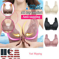 Women Adjustable Sports Bra Closure Extra-Elastic Breathable Lace Trim Intimates