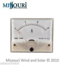 DC 15 AMP Analog Meter for Wind Turbine Generator Solar Panel RV Marine Auto PV