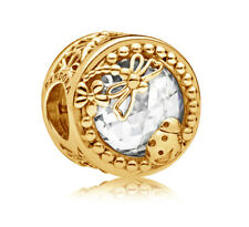 PANDORA Sparkling Dragonfly Charm 14K Gold Vermeil Plated 797047CZ