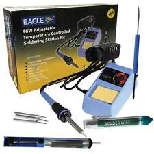 Eagle 6-in-1 Electric Soldering Iron Kit 48w Adj Temperature inc Solder & Tips