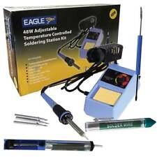 Eagle 6 en 1 Kit Soldador Eléctrico 48w Adj Temperatura Inc de soldadura y consejos