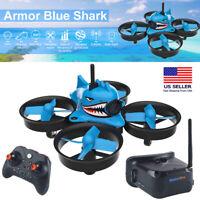 Micro FPV Racing Drone 1000TVL Camera FPV Goggles RTF Quadcopter Set Blue Shark