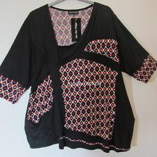 JEAN MARC PHILIPPE Tunika Long Shirt asymmetrisch schwarz T8 52-54