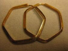 19.2k or 800 Rose gold Hexagon Endless Hoop earrings  #04-0004