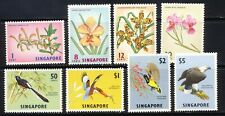 Singapore 1963 Orchid and Bird set Scott 62-9 mnh vf  complete 80.00