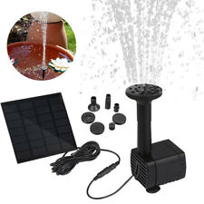 Solar Panel Power Water Pump Garden Aquarium Pool Pond Water Feature Fountain
