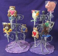 Wilton chocolate Lollipop suckers stands