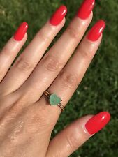 2CT NATURAL COLOMBIAN EMERALD RING WITH MULTI GEM BAND 18K GOLD OVER