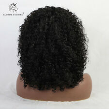 Afro Short Curly Synthetic Medium Full Bob Wigs Coffee Black Grey Hair for Women