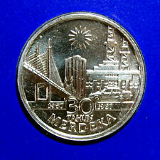 10 ringgit 30 anniv of independence silver coin 1987