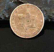 1852 THREE cents / Silver / USA
