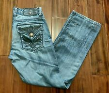 Affliction Blue Jeans Straight Cut Men's 30 Waist 29 Inseam