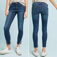 ANTHROPOLOGIE $118 Pilcro Letterpress Mid-Rise Skinny Slit Ankle Jeans Size 27