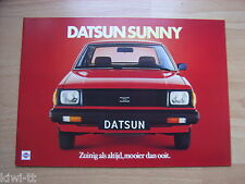 Datsun Sunny (b310: 2/4 - door sedan, coupe, estación carro, Traveller) folleto, NL